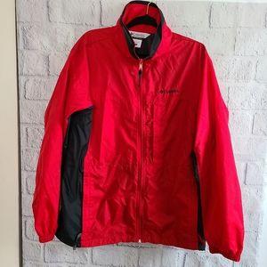 Columbia Men's Red Windbreaker Jacket SZ L